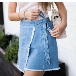 Madewell Skirts - Madewell denim wrap skirt